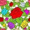 Бесшовный фон из цветов | Векторный клипарт