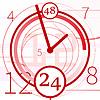 Абстрактный фон с часами | Векторный клипарт