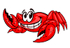 Smiling red crab | Stock Vector Graphics