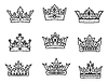 Set of royal crowns | Stock Vector Graphics