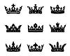 Schwarz heraldische Königskronen
