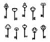 Alte antike Schlüssel | Stock Vektrografik