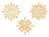 Vintage sun mascots | Stock Vector Graphics