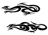 ID 4088325 | Drachen Tattoos | Stock Vektorgrafik | CLIPARTO