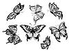 ID 4094648 | Schöne Schmetterlinge | Stock Vektorgrafik | CLIPARTO