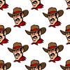 Nahtlose Hintergrund mit Cowboy-Hut in