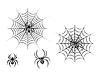Schwarz Gefahr Spider Web | Stock Vektrografik