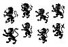 Königlichen Wappen Black Lions