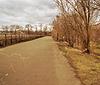 Camino en el parque, foto estilizada postal antigua | Foto de stock
