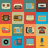 Retro Style Media Icons