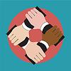 Hände, die sich gegenseitig, die Einheit