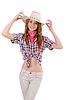 Joyful redhead cowgirl | Stock Foto