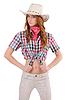 Redhead cowgirl | Stock Foto