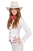 Young smiling cowgirl | Stock Foto