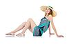 Pretty woman w odzieży letniej na wakacje | Stock Foto