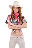 Redhead happy cowgirl | Stock Foto