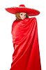 Mexican woman in red clothing | Stock Foto
