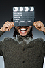 ID 4433349 | Mann mit Filmklappe und Hut | Foto mit hoher Auflösung | CLIPARTO