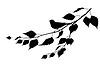 Vogel auf Zweig. Silhouette | Stock Vektrografik