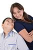 Szczęśliwa matka z synem   Stock Foto