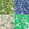Set Tarnung militärischer Hintergrund in Pixel | Stock Vektrografik