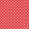 Векторный клипарт: Бесшовные красный с сердцем