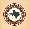 Vintage-Label-Aufkleber Karten von Texas
