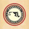 Vintage-Label-Aufkleber Karten von Maryland | Stock Vektrografik