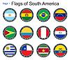Flaggen der Welt. Südamerika