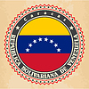 Vintage-Label-Karten von Venezuela Flagge