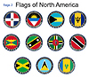 Flags of North America.Flags | Stock Vektrografik