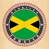 Vintage-Label-Karten von Jamaika-Flagge | Stock Vektrografik