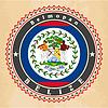 Vintage-Label-Karten Flagge von Belize
