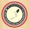 Vintage-Label-Aufkleber Karten von St. Vincent und