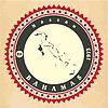 Vintage-Label-Aufkleber Karten der Bahamas