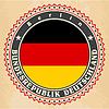 Vintage-Label-Karten von Deutschland-Flagge | Stock Vektrografik