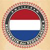 Vintage-Label-Karten niederländische Flagge