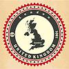Vintage-Label-Aufkleber Karten des Vereinigten Königreichs