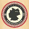 Vintage-Label-Aufkleber Karten von Deutschland | Stock Vektrografik