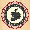 Vintage-Label-Aufkleber Karten von Irland