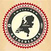Vintage-Label-Aufkleber Karten der Niederlande