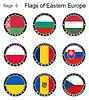 Flaggen von Osteuropa. Flaggen
