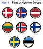 Flaggen von Nord Europa. Flaggen