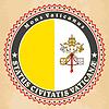 Vintage-Label-Karten von Vatikanstadt Flagge