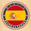 Vintage-Label-Karten von Spanien-Flagge | Stock Vektrografik