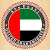 Vintage-Label-Karten der Vereinigten Arabischen Emirate-Flagge