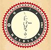 Vintage-Label-Aufkleber Karten der Malediven