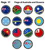Flaggen von Australien und Ozeanien. Flaggen 11