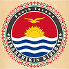Vintage-Label-Karten Flagge von Kiribati