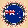 Vintage-Label-Karten von Neuseeland Flagge